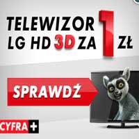 Telewizor za 1 złoty w promocji Cyfry Plus