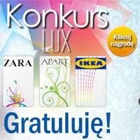 Wygraj kupony rabatowe do sklepów Ikea, Apart oraz Zara