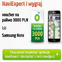 Pobierz aplikację NaviExpert i wygraj bony na paliwo lub telefon