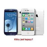 telefony komórkowe samsung oraz iphone
