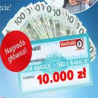 Wygraj 10000 złotych na wakacje lub tablet