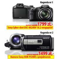 Wygraj kamerę cyfrową lub aparat fotograficzny Sony