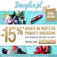 Douglas produkty makijażowe tańsze o 15% ceny