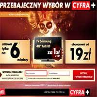 Cyfra Plus krótkie umowy i telewizor Samsung za 1 złoty