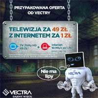 Vectra Internet i telewizja za 50 zł