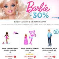Lalki Barbie 30% taniej w Smyk