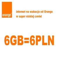 Orange Internet na wakacje 6 GB za 6 złotych
