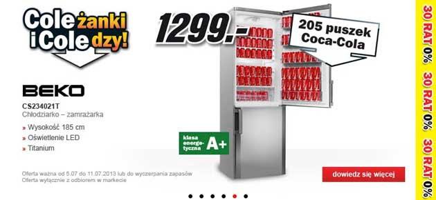 Coca Cola Za Darmo Do Chłodziarek W Media Markt Ofreepl