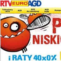 Kupony rabatowe oraz raty 0% na sprzęt w RTV Euro AGD