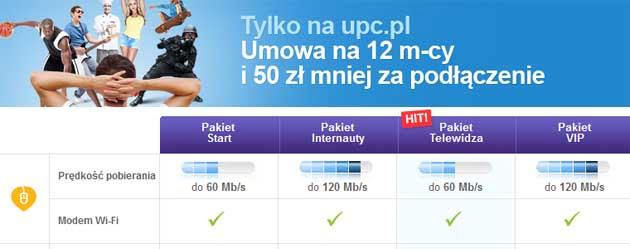Promocja na Internet w UPC