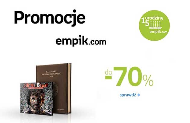 Wyprzedaż Empik, książki, muzyka, kosmetyki, gry 70% taniej