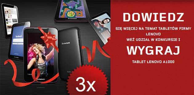 Wygraj tablet Lenovo A1000
