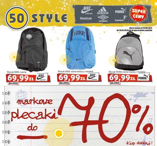 710ada7412903 Oryginalne plecaki -70% taniej w 50style – oFree.pl