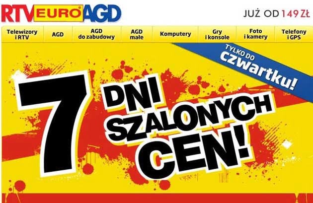 a7a5f945c098d2 Promocja 7 dni szalonych cen w RTV Euro AGD – oFree.pl