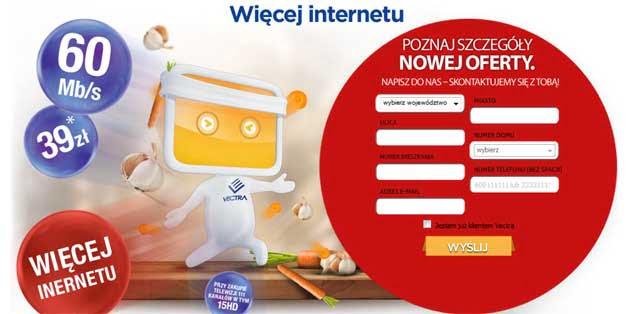 Vectra Internet z telewizją za jedyne 39 zł