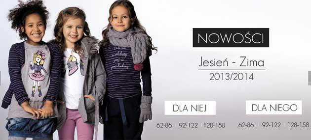 Nowa kolekcja ubrań na jesień i zimę dla dzieci w Wójcik