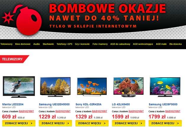 Bombowe Okazje na zakupy w RTV Euro AGD