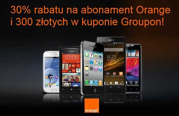 Kupon Rabatowy na abonament w Orange i 300 zł do wydania na Groupon