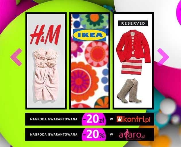 Wygraj bony rabatowe do H&M, IKEA, Reserved i innych sklepów