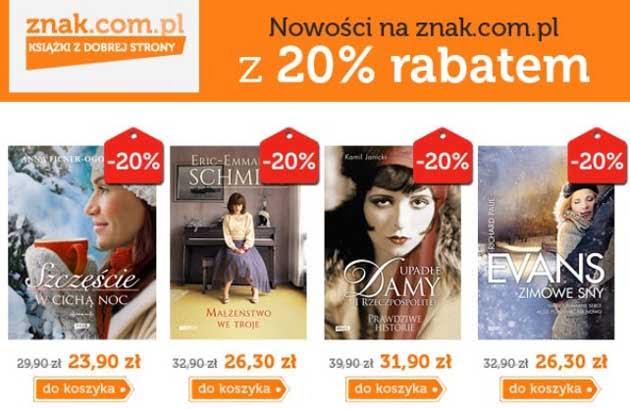Książki 20% taniej i jeden bestseller za 1 grosz w ZNAK