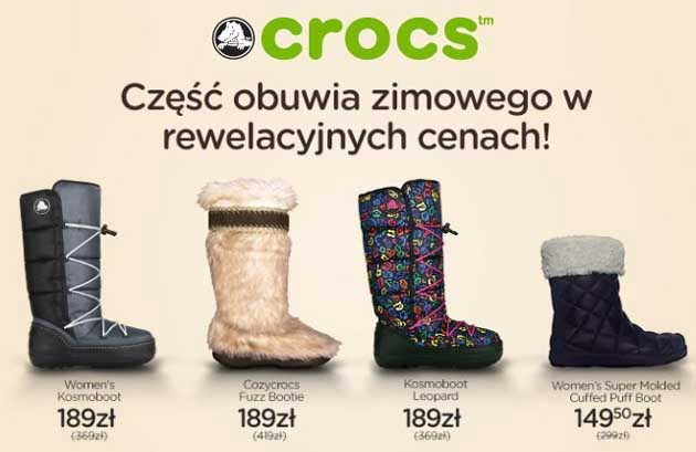 Crocs buty na zime