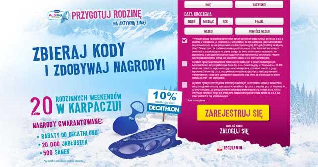 Konkurs Actimel Danone, wygraj pobyt w Karpaczu, bony rabatowe i inne nagrody