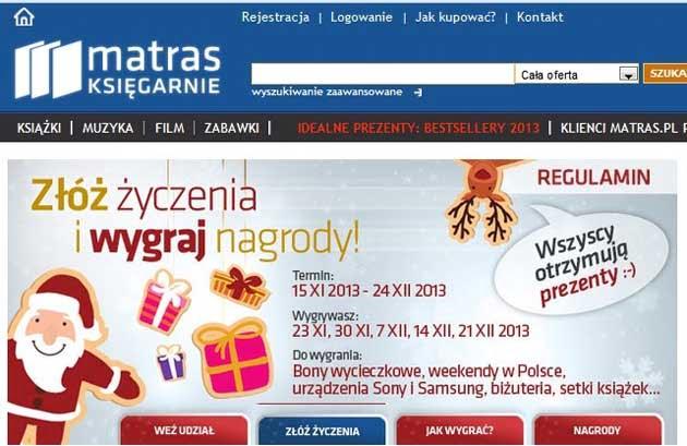 Konkurs Matras, do wygrania kupony rabatowe na książki, urządzenia Sony i Samsung