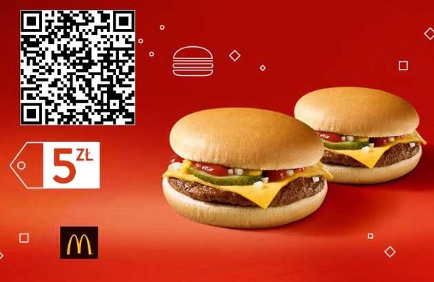 Kupon rabatowy na 2 Cheeseburgery za 5 zł w McDonalds