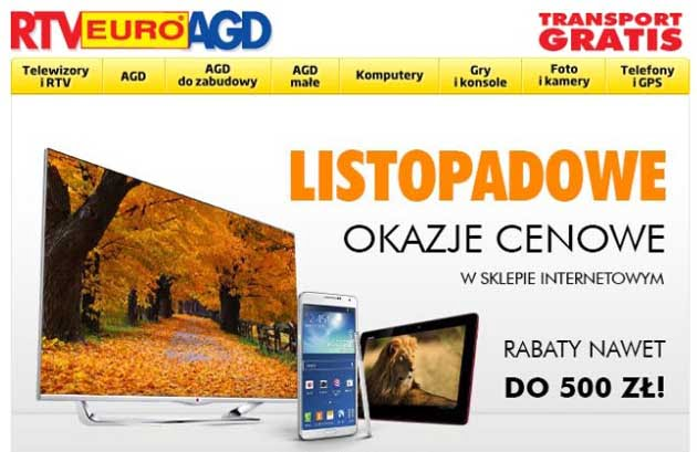 RTV Euro AGD listopadowa promocja