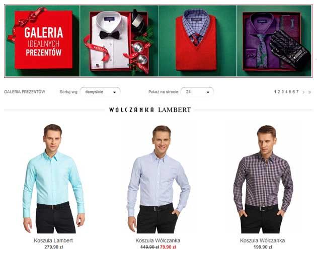 Wólczanka promocja świąteczna na koszule męskie