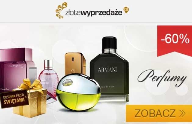 Markowe perfumy taniej o 60% w Złote Wyprzedaże