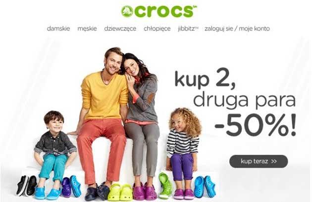 Crocs 50% tańsze buty do pary