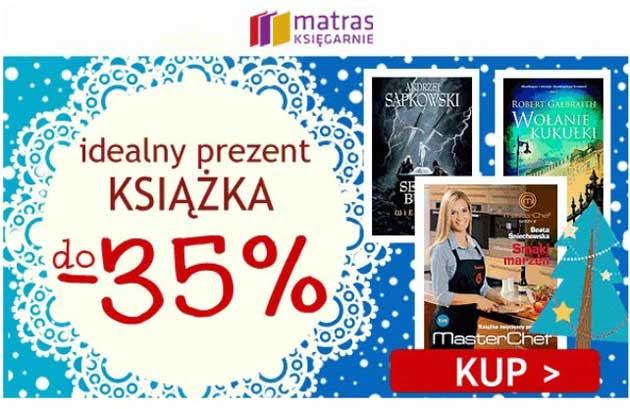 Książki w księgarni Matras taniej o -35% na święta