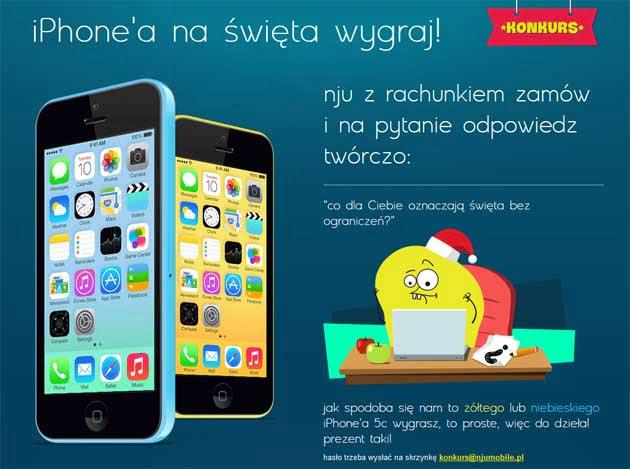 Wygraj iPhone 5c od Nju Mobile