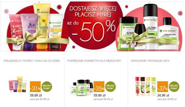 Kosmetyki na święta taniej w drogerii Yves Rocher