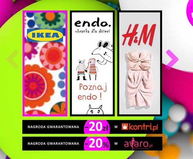 Wygraj bony rabatowe na zakupy do IKEA, Endo oraz H&M