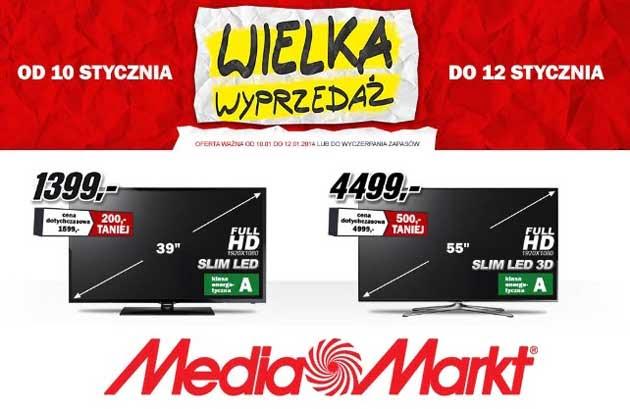 Wielka wyprzedaż w Media Markt, urządzenia RTV i AGD taniej