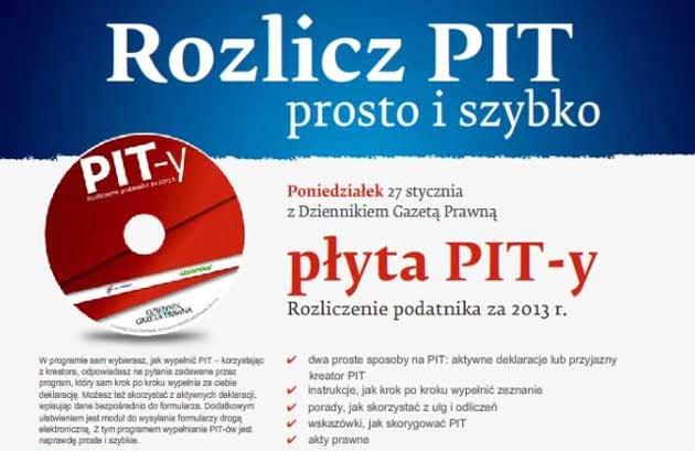 Program do rozliczania PIT za 2013 rok dodatkiem do Dziennika Gazety Prawnej