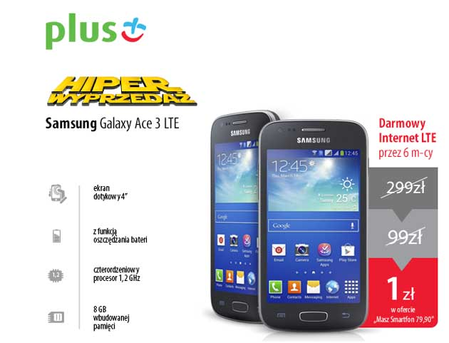 Wyprzedaż smartfonów w sieci Plus