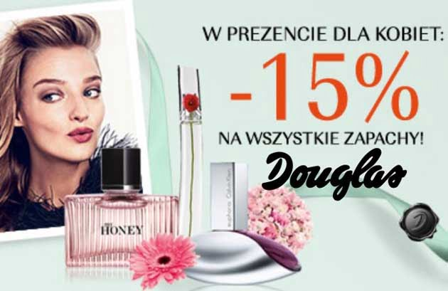 Kupon rabatowy ze zniżką na damskie perfumy w Douglas
