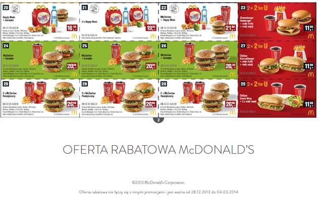 kupony McDonalds 2014