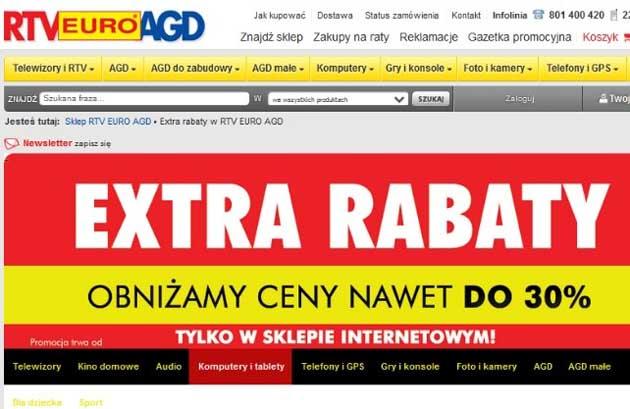 Extra rabaty w RTV Euro AGD skorzystaj z kodu rabatowego