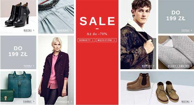 Zimowa promocja na ubrania w Zalando