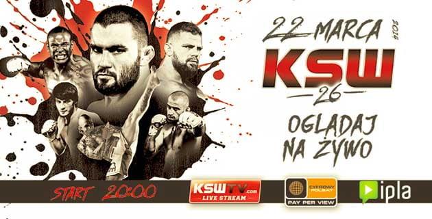 Oglądaj KSW 26 za darmo w Internecie, transmisja z gali MMA
