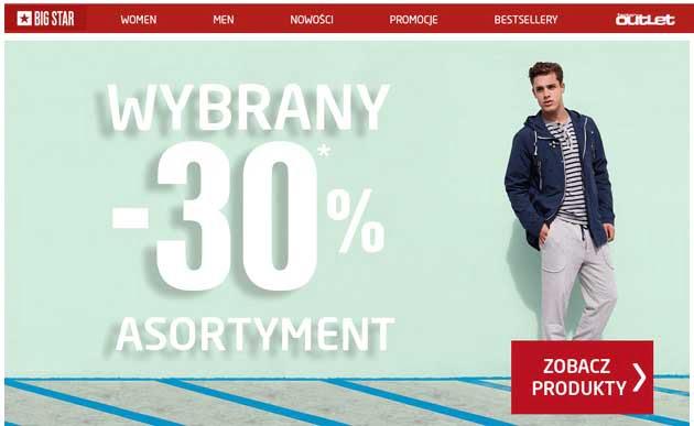 Big Star wybrane ubrania taniej o -30% ceny