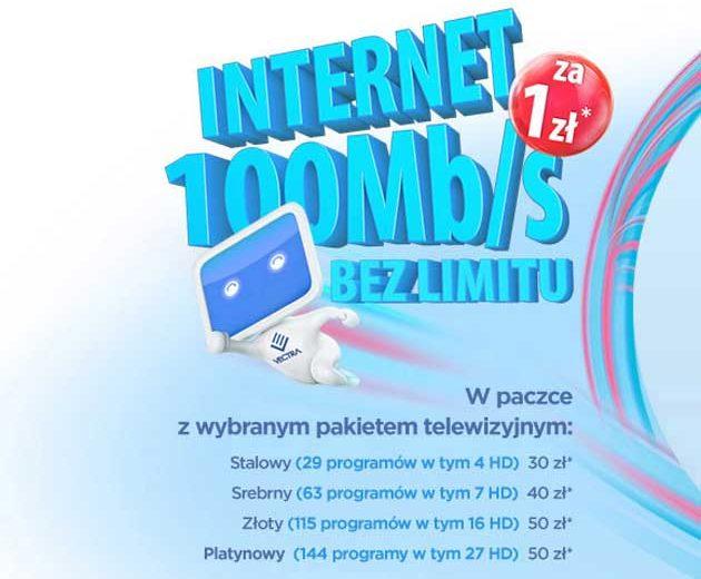 Vectra Internet z telewizją cyfrową w jednym pakiecie za 1 zł