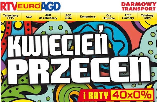 Kwiecień przecen w RTV Euro AGD promocja z kodem rabatowym