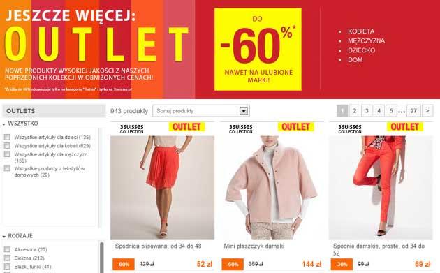 c26ddc6c1f25e8 Outlet, wyprzedaż ubrań online w 3 Suisses