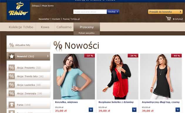 Tchibo ubrania, akcesoria, biżuteria taniej nawet o 50% ceny