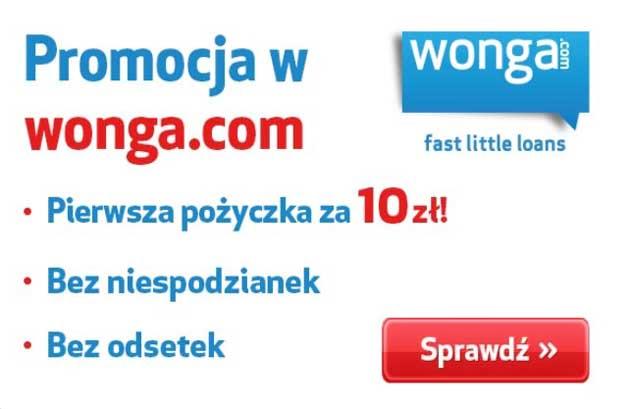 Pożyczka chwilówka bez BIK za 10 zł w Wonga